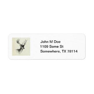 Deer Mount Address Label Template
