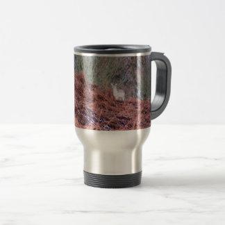 Deer on a hill travel mug