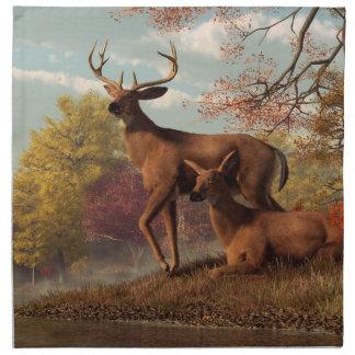 Deer on an Autumn Lakeshore Napkin