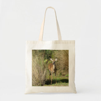 Deer on the Golf Course Tote Bag