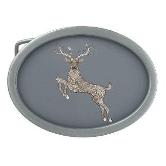 Deer Oval Belt Buckle