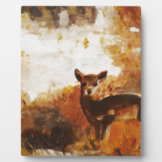 Deer painting plaque