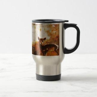 Deer painting travel mug