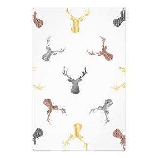 Deer pattern - beige, brown, gray and black. stationery