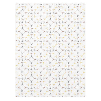 Deer pattern - beige, brown, gray and black. tablecloth