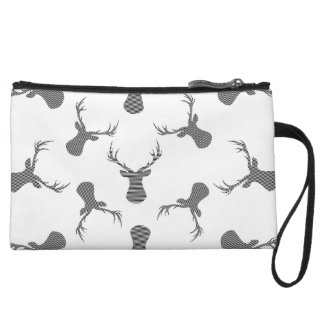 Deer pattern - black. wristlet