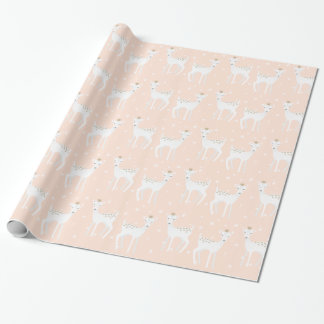 Deer Pattern - Cute Christmas Wrapping Paper