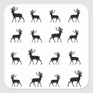 Deer pattern in Black and White Sticker