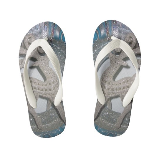 Deer pattern kid's flip flops