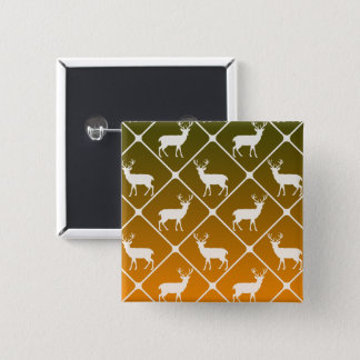 Deer pattern on gradient background 2 inch square button
