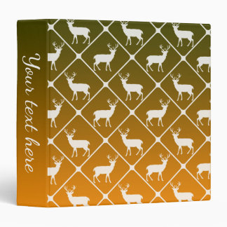 Deer pattern on gradient background 3 ring binder