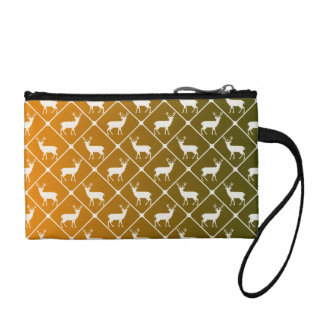 Deer pattern on gradient background change purse