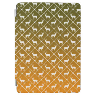 Deer pattern on gradient background iPad air cover