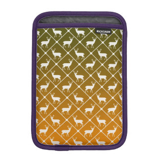 Deer pattern on gradient background iPad mini sleeve