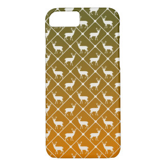 Deer pattern on gradient background iPhone 7 case