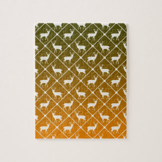 Deer pattern on gradient background jigsaw puzzle