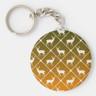 Deer pattern on gradient background keychain