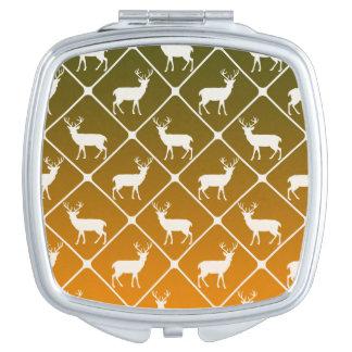Deer pattern on gradient background mirror for makeup