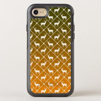 Deer pattern on gradient background OtterBox symmetry iPhone 8/7 case