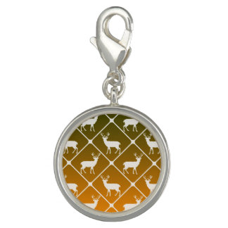 Deer pattern on gradient background photo charms
