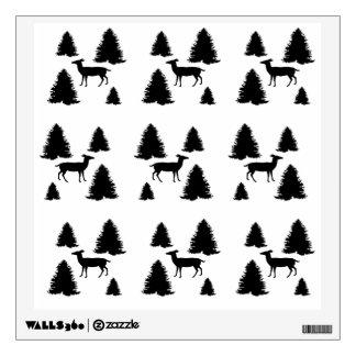 deer pattern wall sticker