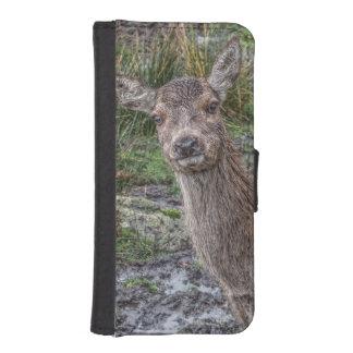 Deer photograph iPhone SE/5/5s wallet case