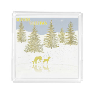 Deer Reflection Acrylic Tray