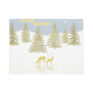 Deer Reflection Doormat