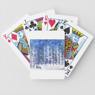 Deer resting poker deck