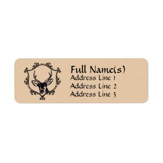 Deer Return Address Label
