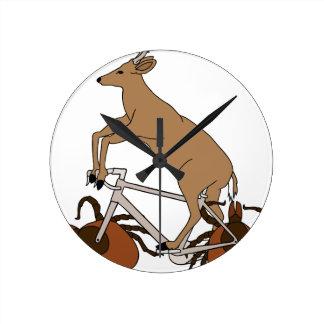 Deer Riding Bike With Deer Tick Wheels Round Clock