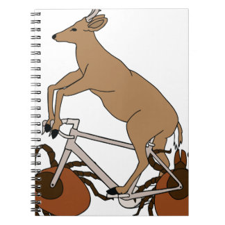 Deer Riding Bike With Deer Tick Wheels Spiral Note Books