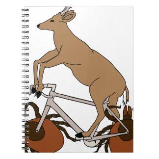 Deer Riding Bike With Deer Tick Wheels Spiral Notebook