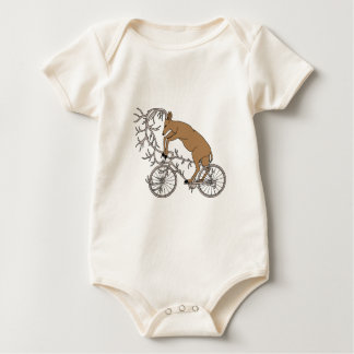 Deer Riding His Antler Bike Baby Bodysuit