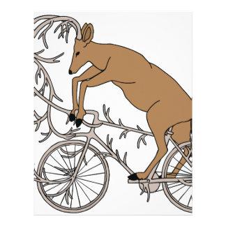 Deer Riding His Antler Bike Letterhead