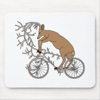 Deer Riding His Antler Bike Mouse Pad