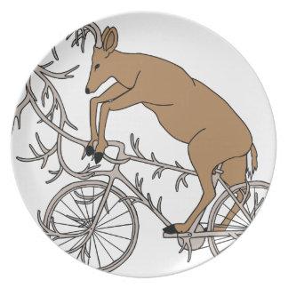 Deer Riding His Antler Bike Plate