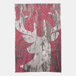 Deer Rustic Holiday Winter Kitchen Towel