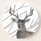 Deer Sandstone Drink Coaster