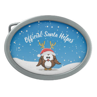 Deer Santa Owl Belt Buckle