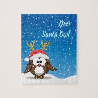 Deer Santa Owl Jigsaw Puzzle