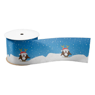 Deer Santa Owl Satin Ribbon