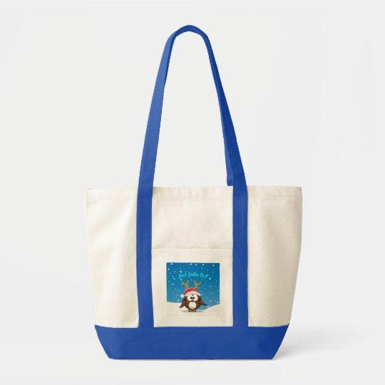 Deer Santa Owl Tote Bag
