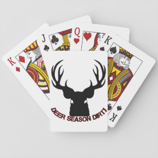 Deer Season Dirty playing cards