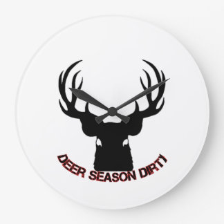 Deer Season Dirty wall clock