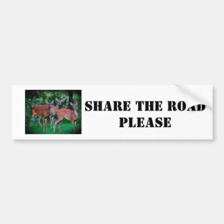 Deer share the road bumptersticker bumper sticker