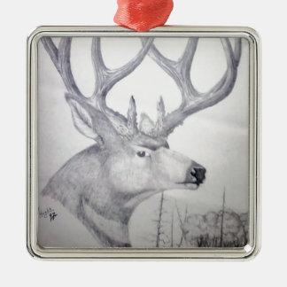 Deer Sidehill.jpg Metal Ornament