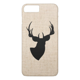 Deer Silhouette Burlap Photo iPhone 8 Plus/7 Plus Case