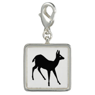 Deer Silhouette Photo Charms