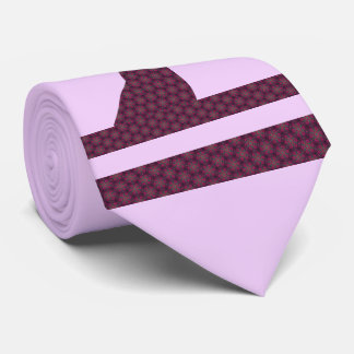 Deer Silhouette plaid purple Tie